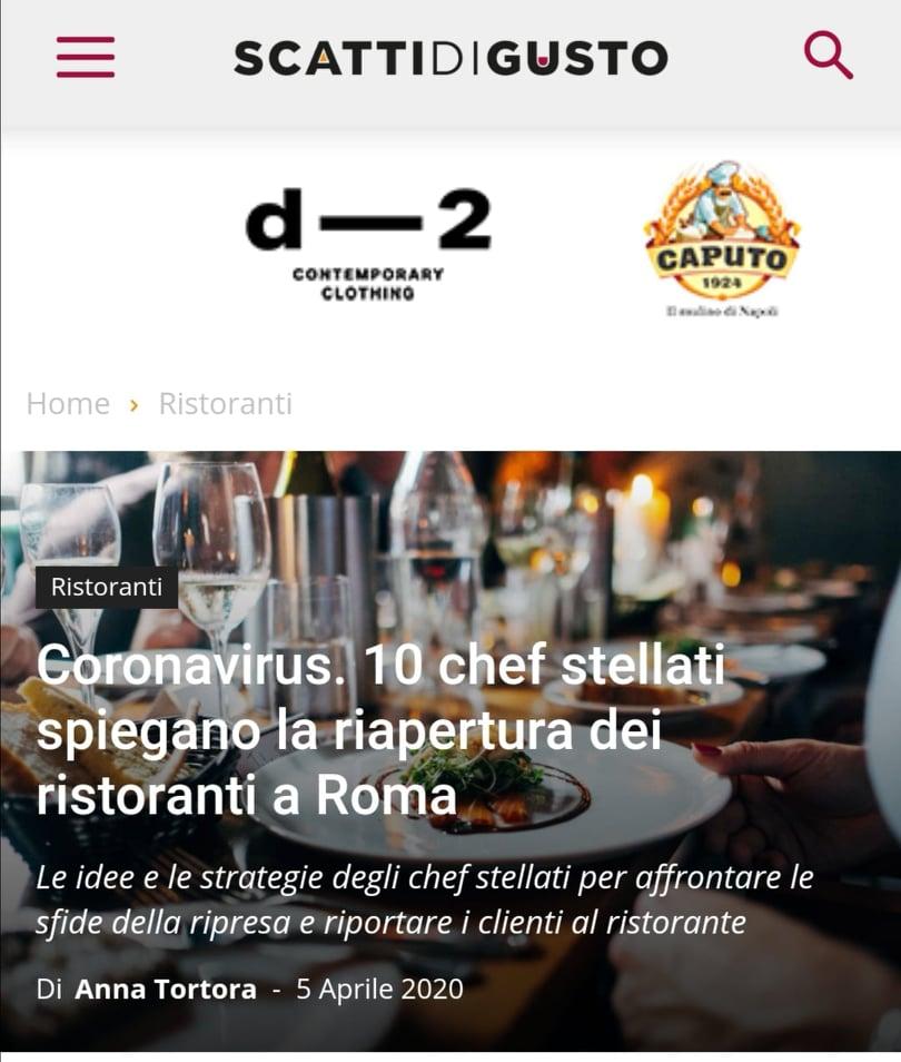 MANFREDI FINE HOTEL COLLECTION – SCATTI DI GUSTO – APRILE 2020