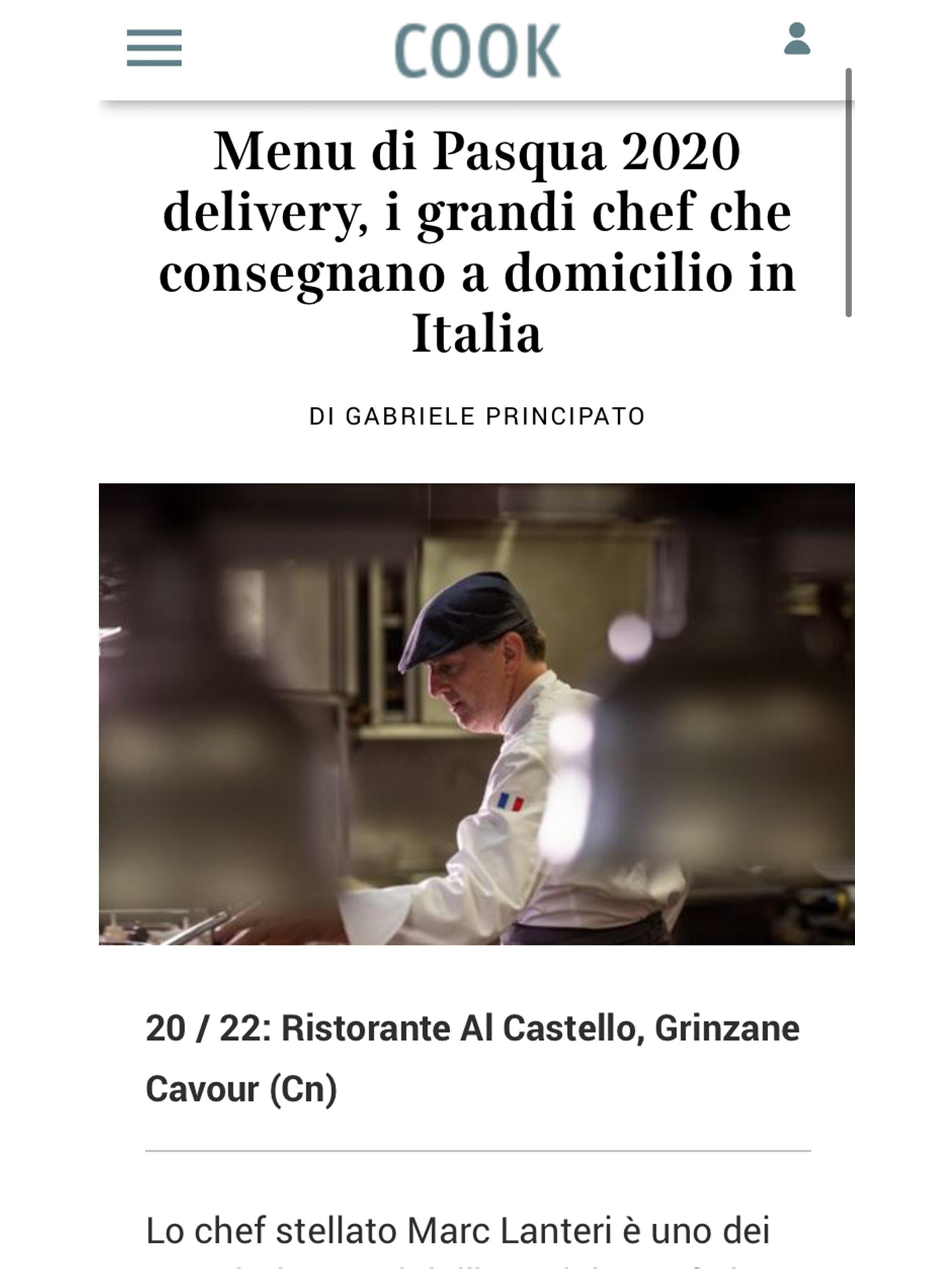 Marc Lanteri – Corriere della Sera – Aprile 2020