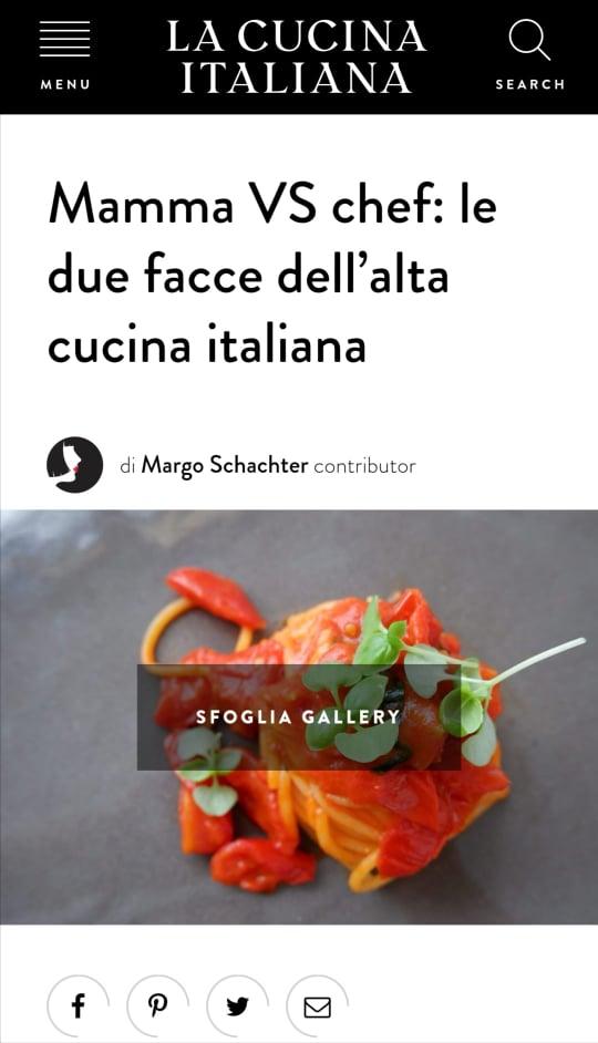 LE MONZÙ E MAMMÀ – LA CUCINA ITALIANA – SETTEMBRE 2020