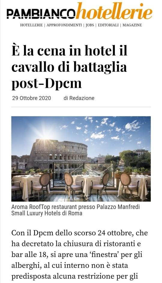 GRAND HOTEL PARKER'S – PAMBIANCO NEWS – OTTOBRE 2020