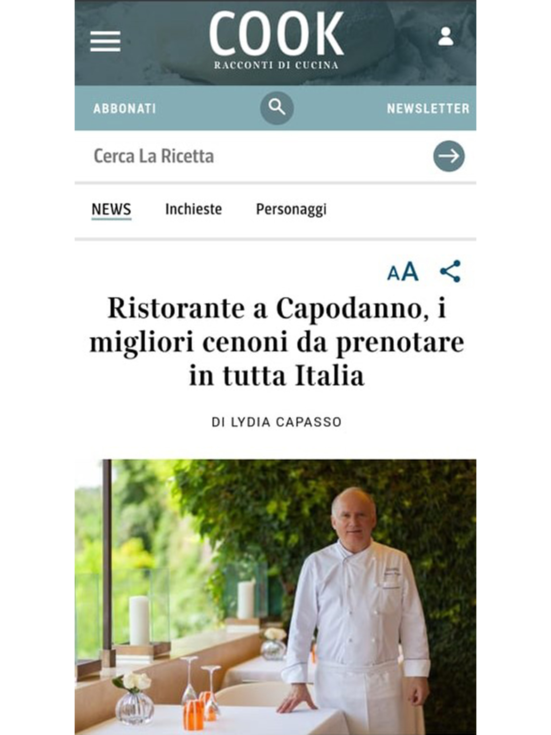 Arnolfo – Cucina Corriere – Dicembre 2019