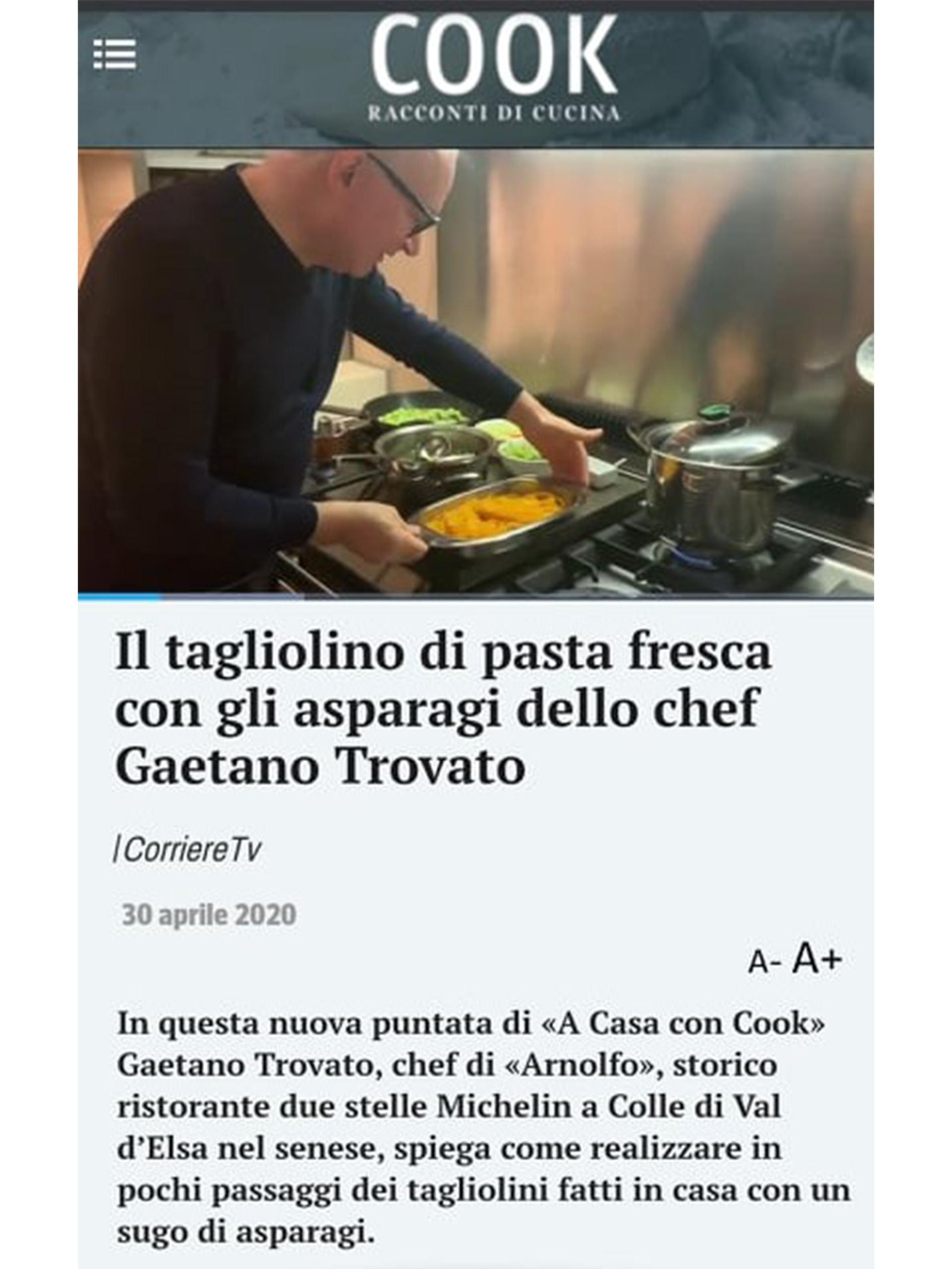 Arnolfo – Corriere della Sera – Aprile 2020