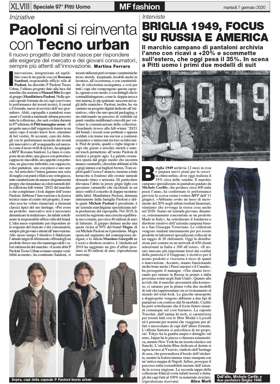 Briglia 1949 – MF Fashion – Gennaio 2020