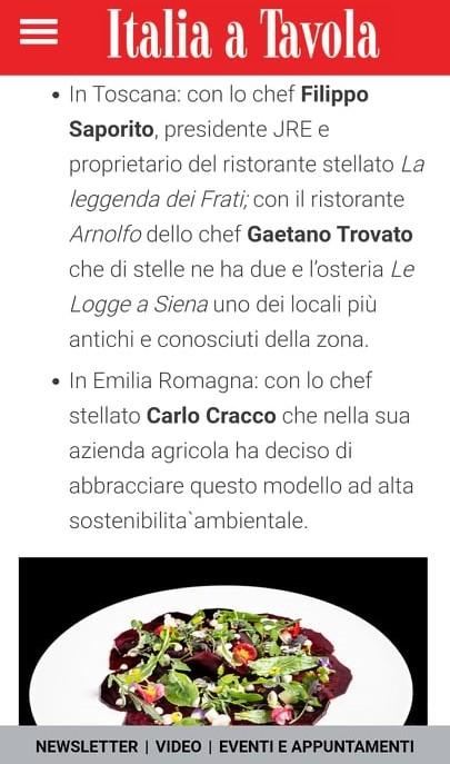 ARNOLFO – ITALIA A TAVOLA – FEBBRAIO 2021