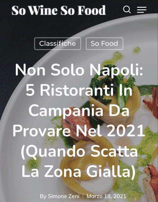 GRAND HOTEL PARKER'S – SO WINE SO FOOD – MARZO 2021