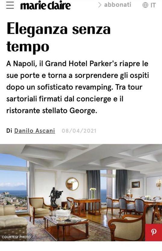 GRAND HOTEL PARKER'S – MARIE CLAIRE – APRILE 2021