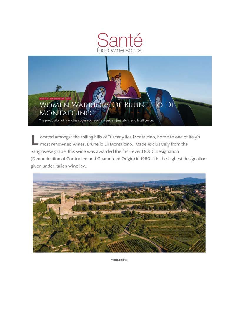 AREA 39 – SANTE' MAGAZINE – APRILE 2021