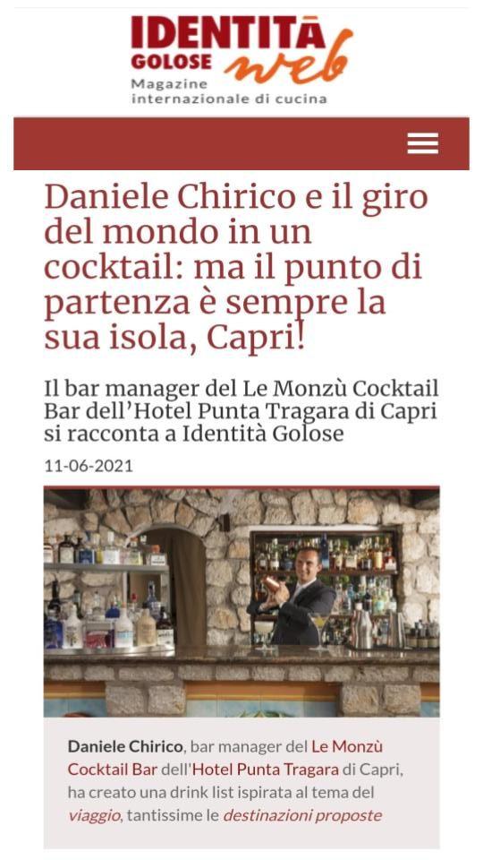 MANFREDI FINE HOTELS COLLECTION – IDENTITÀ GOLOSE – GIUGNO 2021