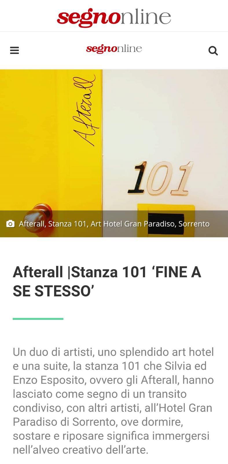 ART HOTEL GRAN PARADISO – SEGNONLINE – GIUGNO 2021