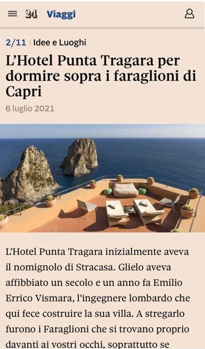 MANFREDI FINE HOTELS COLLECTION – IL SOLE 24 ORE – LUGLIO 2021