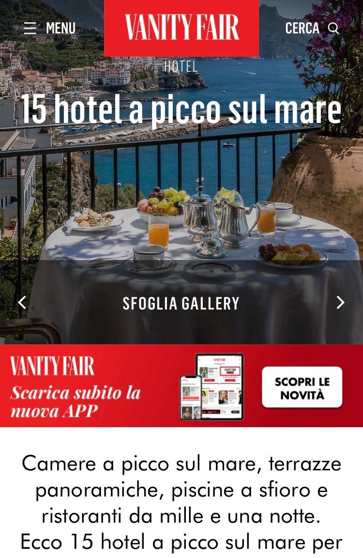 ART HOTEL VILLA FIORELLA – VANITY FAIR – AGOSTO 2021